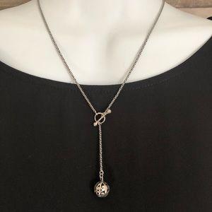 Silpada Oxidized Drop Ball Necklace